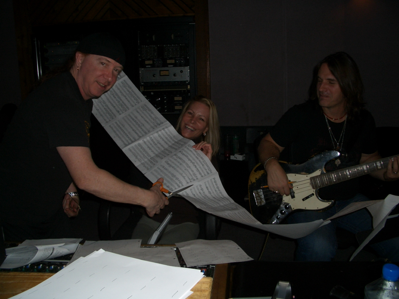 Linda, Neil and me working on her songs.jpg