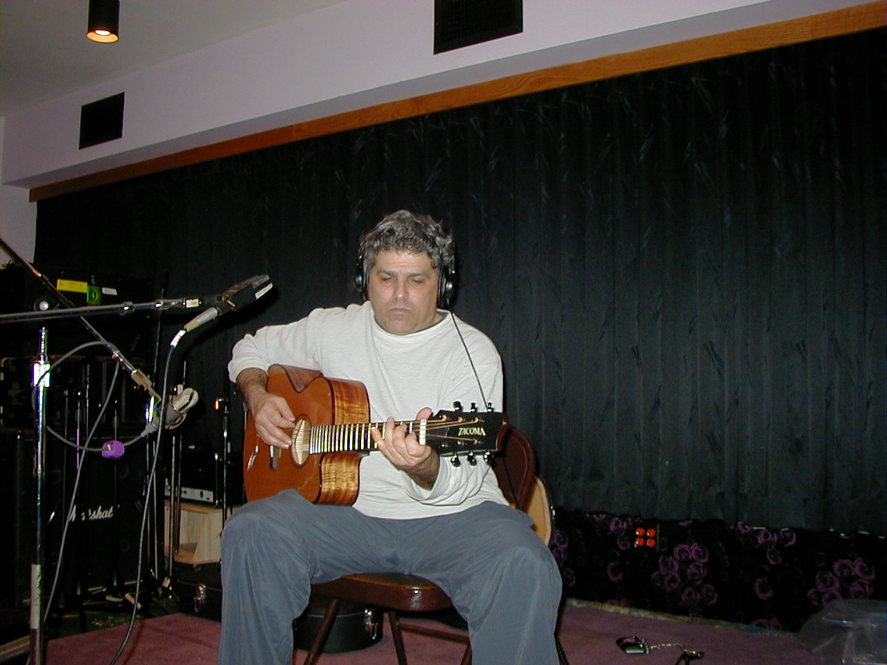 Mark in the studio playing on Charlotte's record 2.JPG
